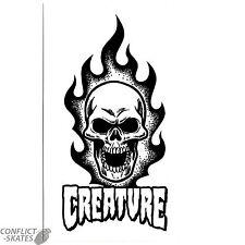 """Creatura """"SCEMO"""" Skateboard Snowboard Adesivo Decalcomania 17cm x 10cm Bianco Grandi"""