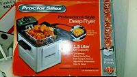 """Used """"Deep Fryer"""" Professional Style by Proctor Silex Single Serve"""