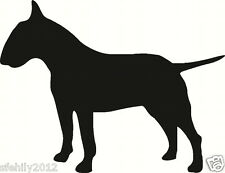 English bull terrier , Car, van Sticker, silhouette. Great Gift For Dog Lover,