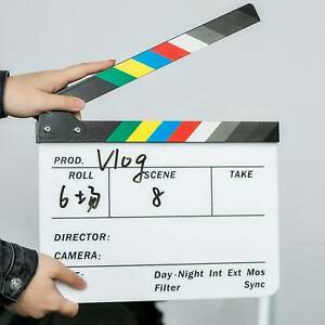 Acrylic Clap Director Clapper Clapperboard Board Film Movie Action Scene Slate