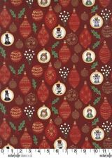 Christmas Ornaments Burgundy Michael Miller Fabric FQ +More 100%Cotton
