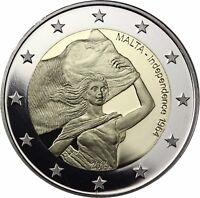 Malta 2 Euro 50 Jahre Unabhängigkeit 2014 PP Gedenkmünze im Etui mit Zertifikat