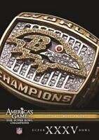 NFL AMERICAS GAME - BALTIMORE RAVENS SUPER BOWL XXXV NEW DVD