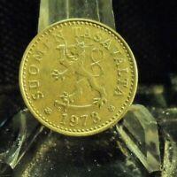 CIRCULATED 1973 10 PENNIA FINLAND COIN (72419).....FREE DOMESTIC SHIPPING!!!!!