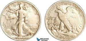 AG699, United States, Walking Liberty Half Dollar (50C) 1920, Silver, aVF