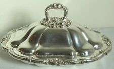BENEDICT-PROCTOR SILVER PLATE SCROLL & LEAF DESIGN COVERED ENTREE DISH 1930'S