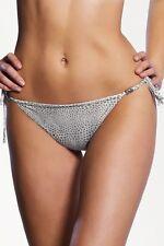 Freya Siren Tie Side Bikini Brief Hipster Swimwear 3071 Silver Sizes S M XS (6 - 8)