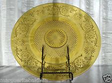 """Indiana Glass Amber Daisy #620 Sandwich 11 1/2"""" Platter Tray"""