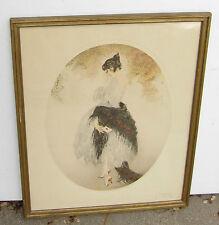 Scarce original Louis Icart framed etching print La Lettre