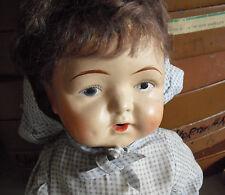 "RARE Antique 1890s DECO Effanbee Composition Cloth Baby Girl Doll 19"" LOOK"