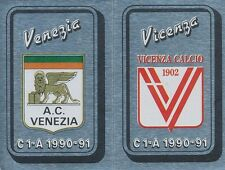 N°511 SCUDETTO BADGE  AC.VENEZIA VICENZA CALCIO STICKER FIGURINE CALCIATORI 1991