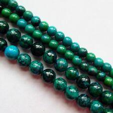 Chrysocolla 6mm Round Gemstone Beads