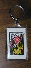 Coca Cola Coke Classic Bottle Ad Always Feels Right Key Ring Charm Chain 2' USA