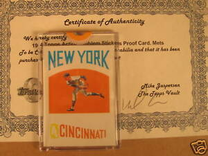 1974 Topps Action Emblem Sticker PROOF - New York Mets