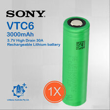 1x Sony 18650 VTC6 Lithium Battery 3000mAh 3.7V High Drain 30A Rechargeable