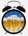 """Beer Alarm Desk Clock 3.75"""" Home or Office Decor W400 Nice For Gift"""
