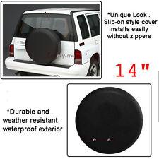 """14 """" Black Spare Wheel Tire Cover Spare For Suzuki Samurai Tire Cover 26"""" 27"""""""