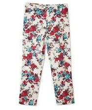 New with tags BCX Kids Big Girls Rose Printed  Light-weight Jeans Pants Size 12