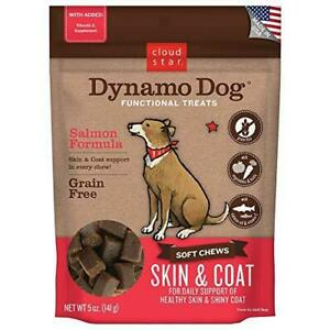 Cloud Star Dynamo Dog Skin & Coat Treats – Chewy Treat with Fish Oil for Shiny