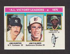 1976 Topps #200 AL Victory Ldrs CATFISH HUNTER JIM PALMER VIDA BLUE No Creases