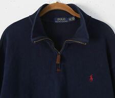 Polo Ralph Lauren PONY 1/2 Zip Navy Blue Pullover Sweater ~ Men's XXL