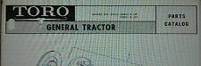 TORO GENERAL Riding Lawn Groundskeeper Industrial Tractor Parts Manual 40p 37014