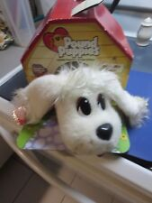 Pound Puppies Pick-Me Pups White Puppy Dog Plush Mattel 2004