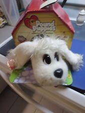 Pound Puppies Pick-Me Pups White Puppy Dog Plush Mattel 2004