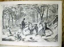 <1858 ILLUSTRATED newspaper WINSLOW HOMER POSTER ENGRAVING The Boston Common