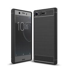 Sony Xperia xz1 Compact Funda móvil Funda TPU carbon fiber protección Cover negro
