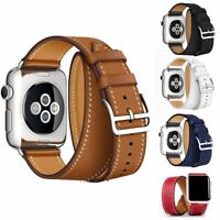 Double Tour Leather Band Strap for Apple Watch Series 1 / 2 / 3 / 4 / 5