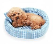 Pet Dog Cat Warm Plush Kennel Calming Bed Round Nest Comfy Sleeping Cave Hot UK