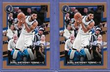 2017-18 Donruss #89 Karl-Anthony Towns Timberwolves Lot of 2 cards in Near Mint