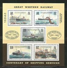 Guernsey 1989 Steamship Service 100th Anniv ss-Attractive Topical (415a) Mnh