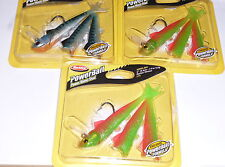 "Berkley Powerbait 5"" Manic Shad Swimbaits (Lot of 3-Blue Mack/Nuclear Chicken)"