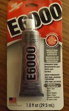 E-6000 INDUSTRIAL STRENGTH ADHESIVE CLEAR TRANSPARENT 1.O FL OZ HOBBY CRAFT