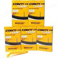 Five (5) Pack Continental Race 700 x 25-32C 42mm RVC Presta Bike Tubes w/ Levers
