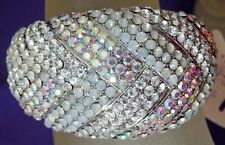 STUNNING CLEAR& AB CRYSTAL GOLD CUFF BRACELET RED HAT SOCIETY
