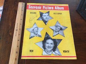 Grand Ole Opry WSM Souvenir Picture Album autographed