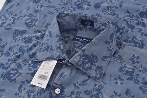 NWT Peter Millar Collection Size Small Dress Shirt Blue Floral Brand New Turkey