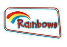 RAINBOW LOGO PVC PIN BADGE OFFICIAL RAINBOW UNIFORM NEW