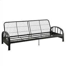 Durable Dhp Aiden Futon Black Metal Frame Construction Quickly Converts Sofa Bed