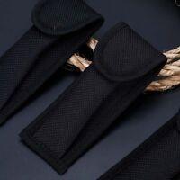 Black Nylon Pouch Sheath Bag For Folding Knife Tool Belt Clip Case