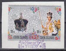 Cook Island 1977 Θ Mi.525/59 Regentschaft Silver Jubilee Queen Elizabeth[sq7103]