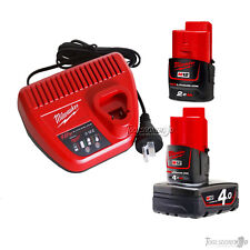 Genuine Milwaukee C12C 12V Charger+M12B2 2.0Ah+M12B4 4.0Ah Battery Not imported