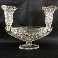 Bowl Clear Art Deco Date-Lined Glass