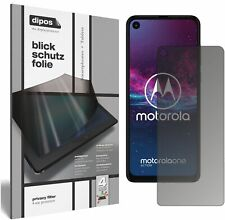 Schutzfolie für Motorola One Action mit Sichtschutz Blickschutz Folie