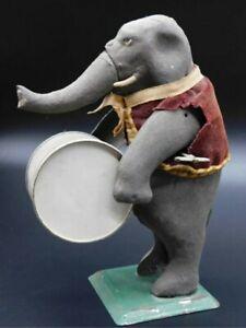 Gunthermann Tin Wind Up Preforming Circus Band Elephant