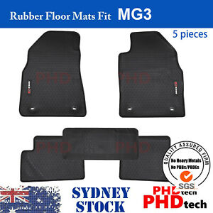Premium Quality All Weather Rubber Car Floor Mats Fit MG MG3  2017-2021