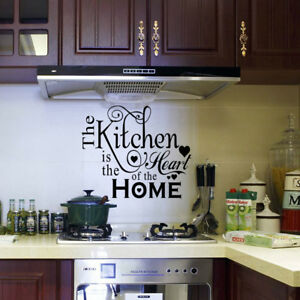 Vinyl Kitchen Rules Room Decor Art Quote Wall Decal Stickers Removable Mural DIY